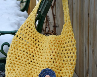 Yellow cotton crochet bag! Perfect for spring!
