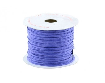 Paper Cord Blue Wired Flexible Tourbillon Craft Cord 10 yards