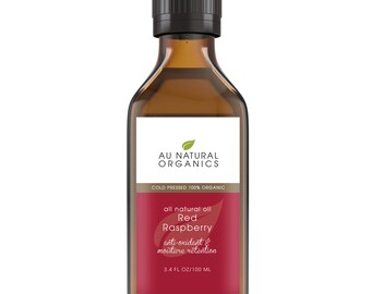 Red Raspberry Seed Oil, Organic Oil,  Natural Skincare, Natural Haircare  3.4oz (100ml)