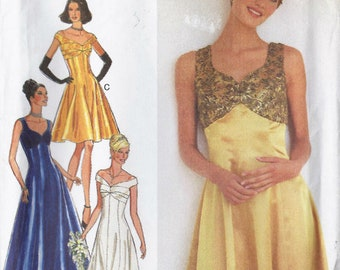 Wedding gown/Bridesmaid's dress pattern with bodice and length variations in Misses' sizes 8-18 Style 2775 UNCUT & FF (1996) K1077