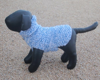 xx Small Ice Blue and White Dog Sweater