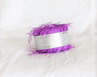 Flutter 05, purple, Knitting Fever, novelty, eyelash, destash