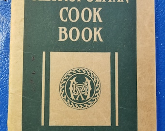 Antique COOK BOOK metropolitan life insurance 1922 booklet 64 pages recipies health diet meals food cooking kitchen housewife home family