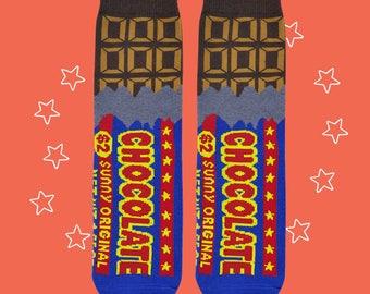 FREE SHIPPING chocolate snack one size women's socks valentine's days gift girlfriend gift charming socks