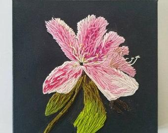 Hand Embroidered Azalea ArtemisUnravelled