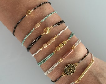 Simple 18 K Gold Plated Chain Bracelets