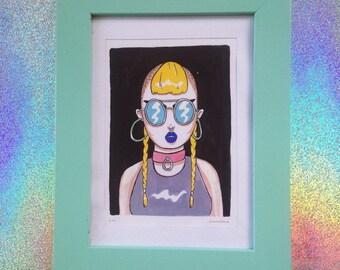 sad girls from the internet / alternate - original artwork