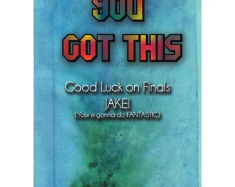 YOU GOT THIS! Care Package Card - College Student Care Package - Personalized Card - College Grad - College Student