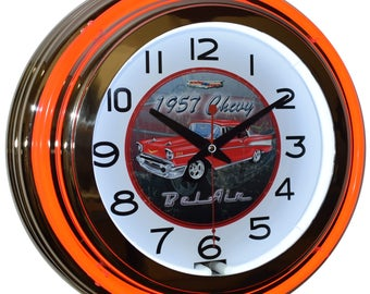 Man Cave Clock : Tire wheel clock r h wrench hands red man cave garage