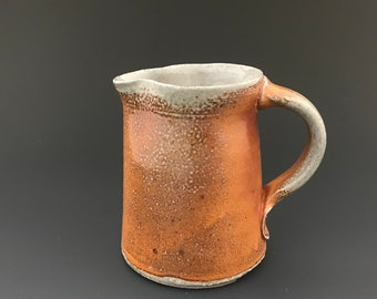 Creamer - Pottery Cream Pitcher - Small Pitcher - Soda Fired Stoneware Pottery - Ron Philbeck (C1)