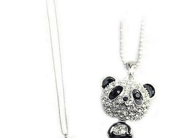 Clearance Panda Necklace on ball chain  FREE SHIPPING