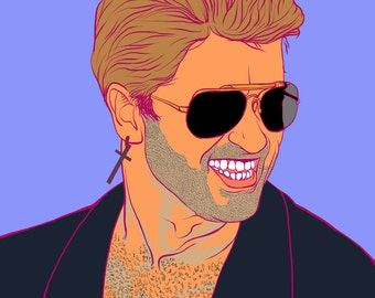 George Michael - Fine Art Print - Giclee - Wall Art - Pop icon - legend - RIP - Fun