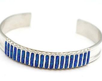 Blue Opal Inlay Bracelet