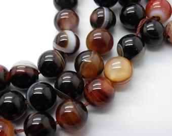 19 beads 10mm Tiger eye natural round beige Brown Hawk