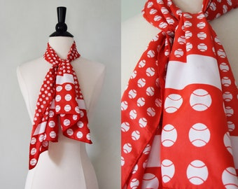Vintage baseball print scarf by Sports Scarves