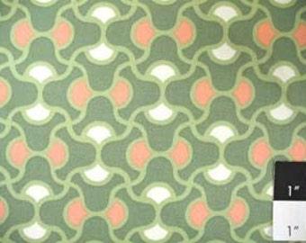 CLEARANCE Amy Butler August Fields Knot Garden Moss Cotton HOME DECOR Fabric 1 Yard