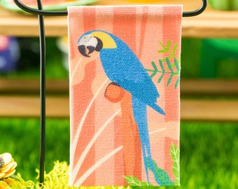 Miniature Macaw Garden Flag - 1:12 Dollhouse Miniature