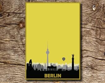 Berlin skyline poster, original graphic city skyline print, unique Artwork!
