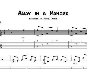 Away in a Manger - Fingerstyle Guitar