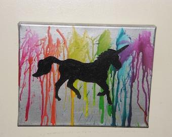 Rainbow Unicorn Crayon Melt
