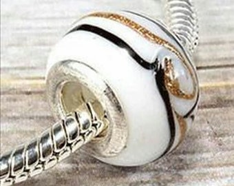 Charm white with lines/white charms with lines/Gift/charms for bracelet