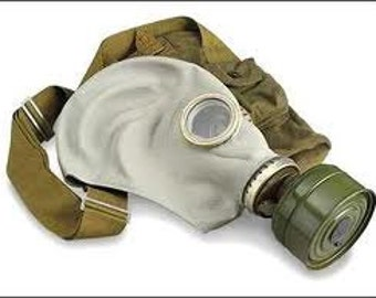 Gas Mask ... Vintage Soviet Army Gas Mask ... Military ... Gothik ... USSR ... Russian ... punk