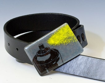 Fused Glass Spray Can Buckle