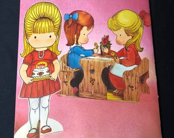 """1978 Joan Walsh Anglund Centerpiece- """"Party Playmates"""""""