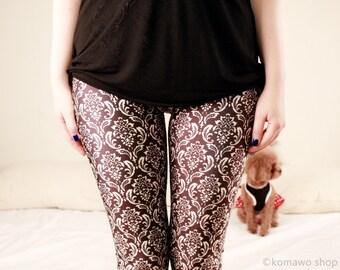 WALLPAPER LEGGINGS/ Club Leggings/Sports pants/Designed Leggings/Women Stretch Leggings/ Yoga Pants Tights dx124