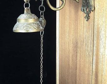Antique Brass Hanging Doorbell - Unique!