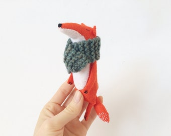 Fox Stuffed Animal, Felt Fox, Stuffed Fox Toy, Fox Softie, Felted Miniature Animals, Woodland Animals, Fox Plush Toy, Felt Animals