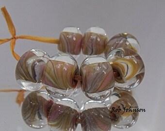 Aztec Marble, Artisan Lampwork Glass Beads, SRA, UK