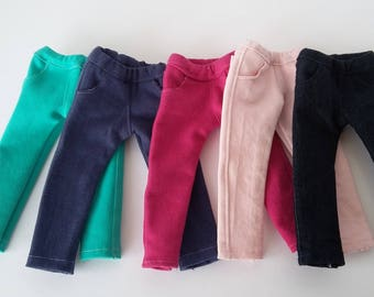 "14.5"" doll clothing- Coloured skinny leg stretch denim made to fit Wellie Wishers"
