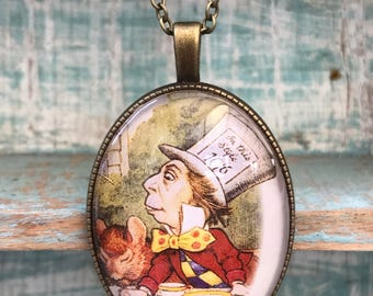 Alice in Wonderland Mad Hatter Necklace