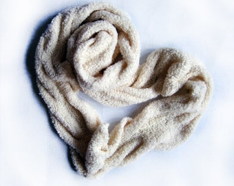 Extra long Loop Infinity white scarf