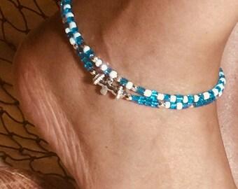 Silver Cross Ankle Bracelet