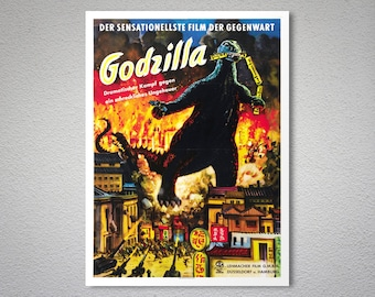Godzilla, King of the Monsters Movie Poster - Poster Paper, Sticker or Canvas Print / Gift Idea