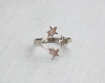Silver Shooting Star Ring or Midi Ring