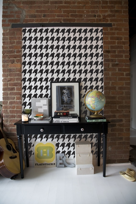 Houndstooth Repeat Wall Stencil Reusable Craft Diy Stencils