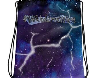 Broken Light Clean Drawstring bag
