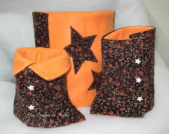 Orange set: leggings and snood 4t