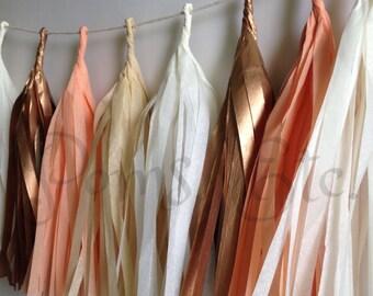 Rose gold Tassle Garland/ Tassel Garland-  6 feet- Tissue Paper garland-