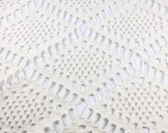100% Cotton Diamond Argyle Novelty Knit Fabric (Wholesale Price Available By the Bolt) USA Made Premium Quality - 8033M - 1 Yard
