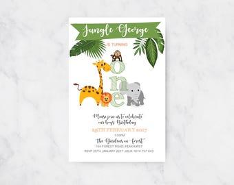 Jungle Birthday Invitation | Boys Birthday | Printable Invitations