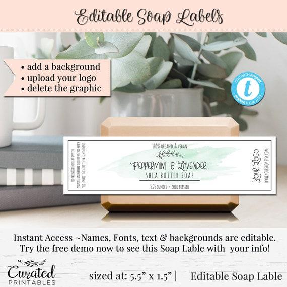 Soap Label Editable Label Bath Product Label DIY Ingredient