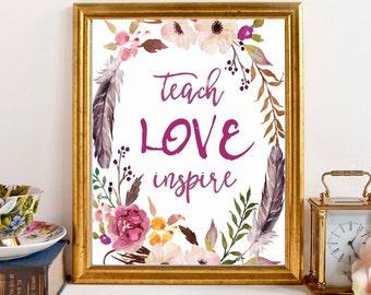 TEACHER GIFT, teacher prints, gift for teacher, christmas gift, teacher printable, teacher christmas gift, teacher print, gift ideas