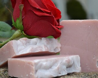 Stop and Smell the Roses - Handcrafted Vegan Bar Soap