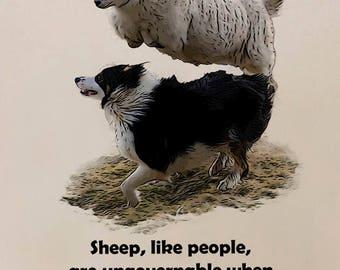 Sheep Dog Tote Bag