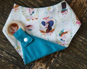 Peter Pan Waterproof Reversible Interchangeable Teething Bib