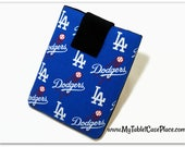 Tablet Case, iPad Case, Los Angeles,  LA Dodgers, MLB, Baseball, Kindle Cover, 7, 8, 9, 10 inch Tablet Sleeve, Cozy, Handmade, FOAM Padding